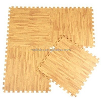 Light brown Elegant home furnishing natural wood pattern eva mat small size