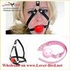 Fashion hot sell bondage adjustable leather ball gags