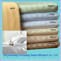 1cm / 2cm /3cm stripe white cotton fabric for hotel bedding set