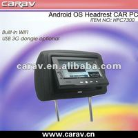 "7"" headrest car pc(with Google Android OS)"