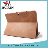 Vintage stylish portable magnetic protective slim folding flip real genuine leather case smart cover