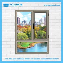 Made in China Design lofty wind proof mill finish aluminum window