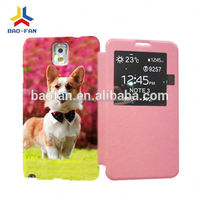 3D colorful sublimation leather phone case for Samsung galaxy note3