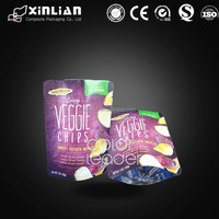 custom printing stand up zipper plastic bag for dried fruit