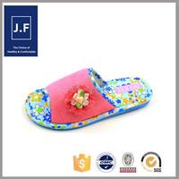 fashion beautiful cheap indoor100 cotton slipper for women