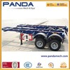 Panda 2 axle bogie suspension container chassis trailer
