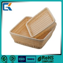 Low price square shaped wicker basket for bread
