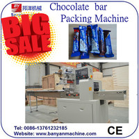 Hot Sale !!! High speed full automatic chocolate bar packing machine /0086-18321225863