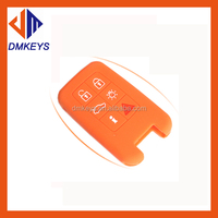 Top quality silicone car key cover for volvo key cover,soft smart remote key cover with hot selling colors