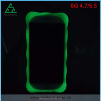 Wholesale Manufactory noctilucent luminous phone case for iphone 6 silicon
