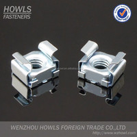 High quality cassette square nut carbon steel white zinc plated square lock cage nut cassette nut