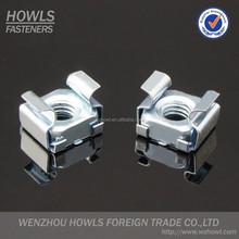 High quality cassette square nut carbon steel white zinc plated square lock cage nut cassette nut
