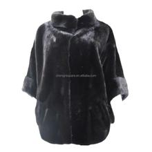 China online shopping fashion black real mink fur coat