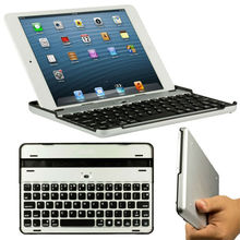 Aluminum bluetooth keyboard for iPad Mini,CE FCC RoHS aluminum alloy cover built in bluetooth 3.0 keyboard for iPad Mini BK-24-2