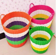 Dirty laundry basket handwoven cheap colored plastic laundry basket cheap plastic baskets with handles