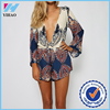 Yihao Women Sexy Clubwear V Neck Playsuit Party Jumpsuit&Romper Trousers New