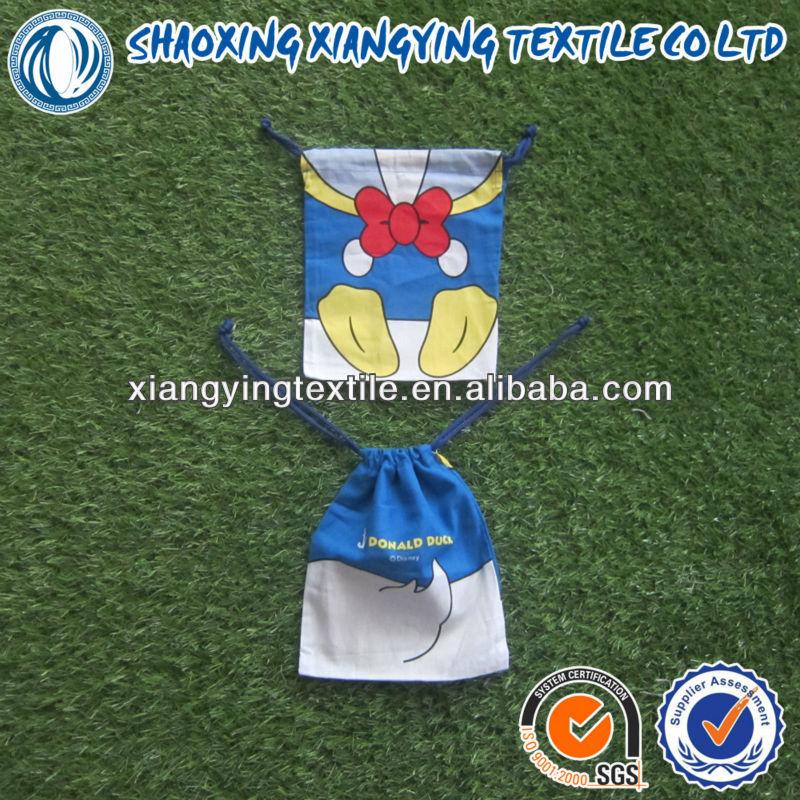 хлопка хозяйственная сумка, эко- дружественных печать подарка и малых хлопчатобумаёный мешок для детей с азо тест