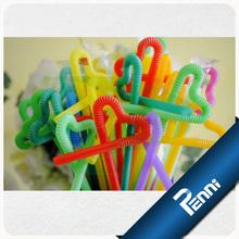 Food Grade PP Unwrapped Blue Plastic Drinking Straws