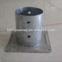 Hot dip galvanized round pole anchor and metal pole plate