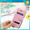 Hot sell wallet pu leather case with window for iphone 5