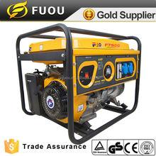 single phase single cylinder silent yellow 190F engine gasoline generator for dubai