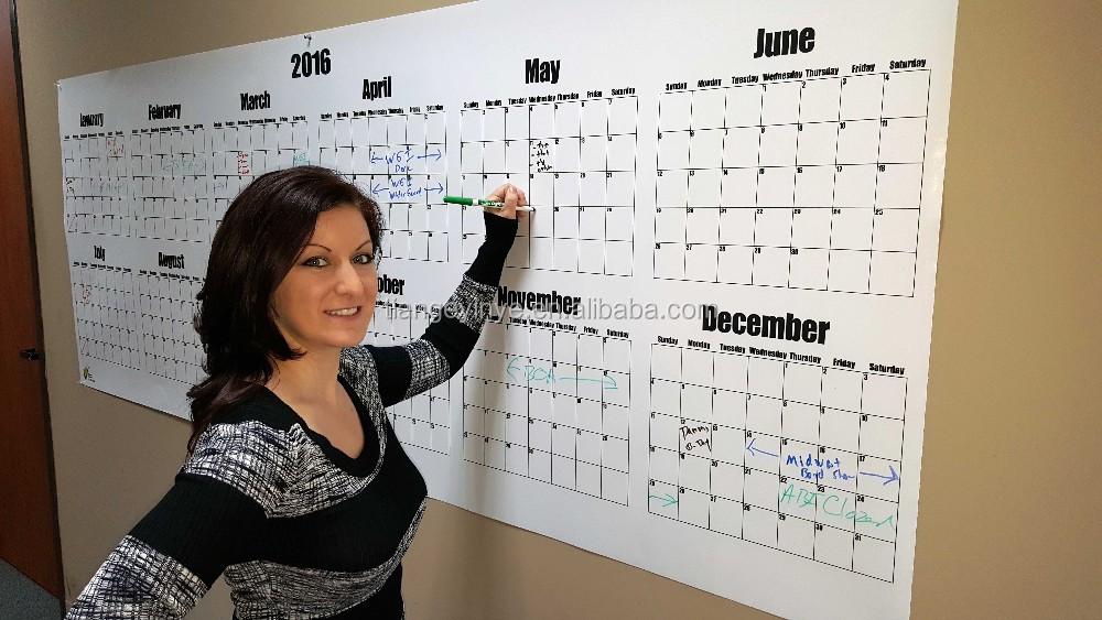 Impression personnalis e effa able lamin planificateur - Grand calendrier mural ...