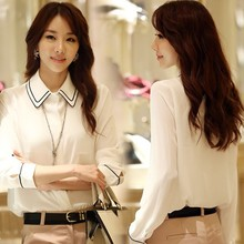 Top Fashion Lady Women's Elegant Design Long Sleeve Lapel Sexy Vest + White Blouses for Office SV016510