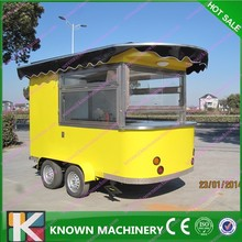 Street/Cinema/Park/School Mobile Food Trailer For Sale/Churros Hot dog Waffles Food Cart
