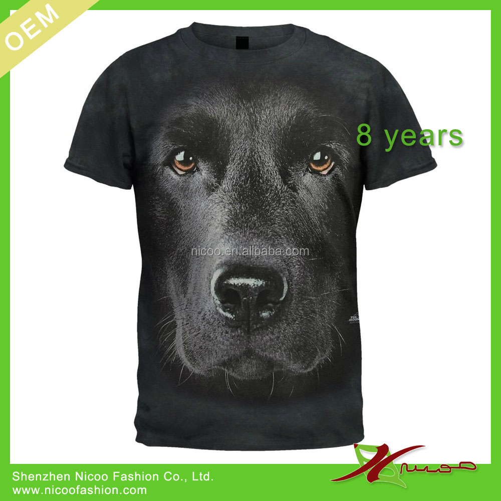 100 cotton 3d t shirt wholesale animal tshirt for men for Wildlife t shirts wholesale