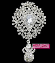 2015 new arrival crystal brooch for wedding invitations