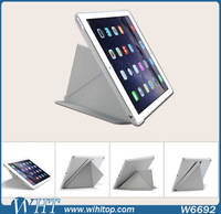 2015 New Products Multi Functional Leather Flip Stand Protective Case for iPad air 2