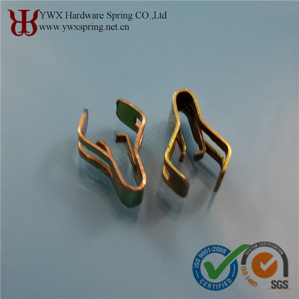 Metal spring clip