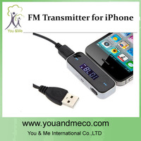 New Wireless 3.5mm In Car Display FM Transmitter For Smart phone