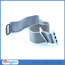 Stainless Steel Mesh Watch Bands Hole Strap For Apple Watch