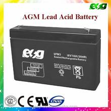 6v 7AH dry batteries for ups