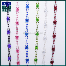 2015 fashion decorative rose flower crystal rhinestone chain trim for garment accessories Z0123