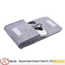 6.6 inch felt phone bag organizer for Cell Phone Earphone Accessory