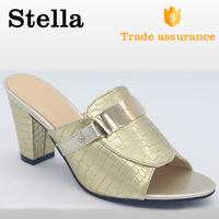 thick sole high heel pu soft slipper