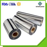 Paper Plastic Cold Lamination Use Aluminum Metalized Silver PET Film