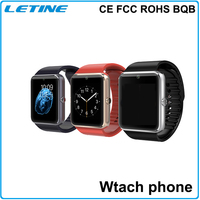 CE FCC ROHS BQB Smart bluetooth sim card phone watch GT08 wrist watch mobile phone,smart watch mobile phone