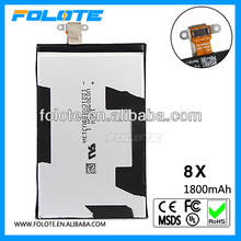 1800mah rechargeable lithium battery for htc 8x mobile phone