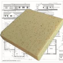 Yellow quartz stone kitchen island countertop sample
