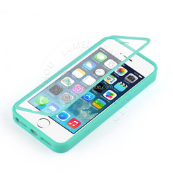 Flip TPU View Touch Screen Case Cover For Apple iPhone 5S