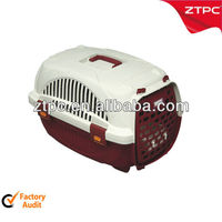 Small plastic cat cage, pet carrie with feed bowl