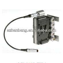 Dual Battery Adapter for Sony F65 (V-Mount) compatible LEMO connector