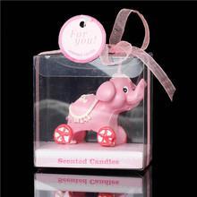 Elefante rosa candele 7,1 x7.1cm