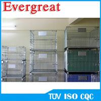 China folding mesh pallet storage cage/steel stacking pallet box