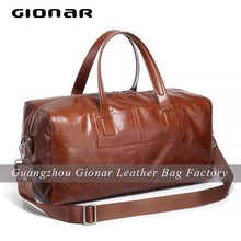 New Style Men Leather Travel Bag / Big Size Men Leather Bags