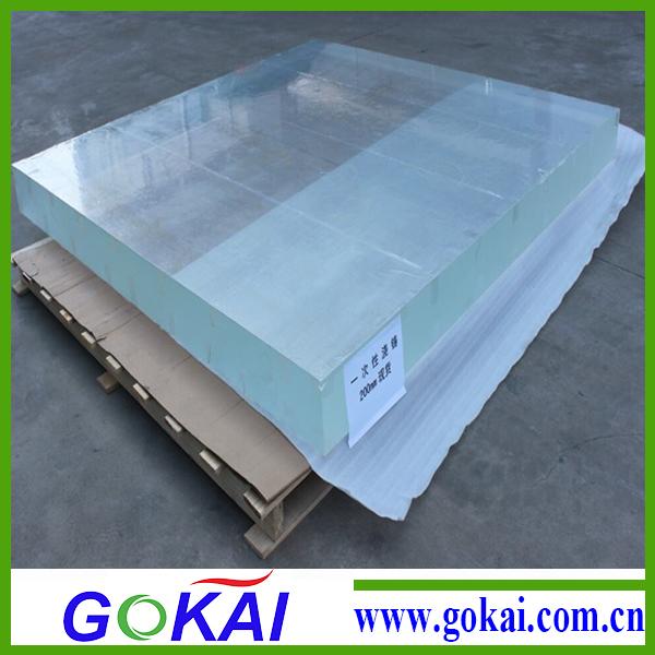 500 mm arriba transparente de acr lico plexigl s hoja for Piscina de acrilico