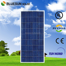 Bluesun high efficiency industrial and home use poly 150w pv solar panel for led